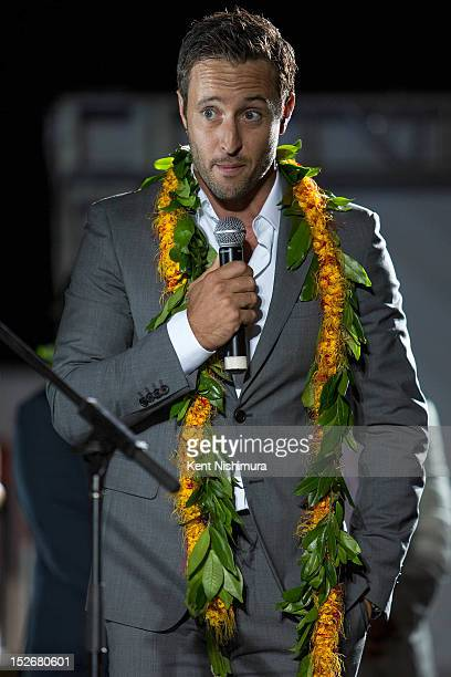 Alex O'Loughlin on stage before the premiere of CBS' Hawaii FiveO Season 3 on September 23 2012 in Waikiki Hawaii