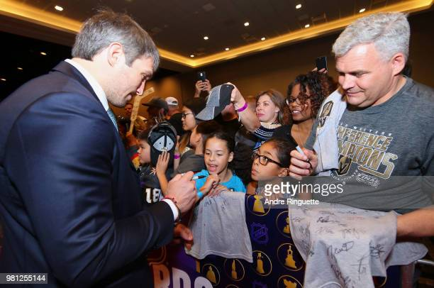 Alex Ovechkin of the Washington Capitals arrives at the 2018 NHL Awards presented by Hulu at the Hard Rock Hotel Casino on June 20 2018 in Las Vegas...