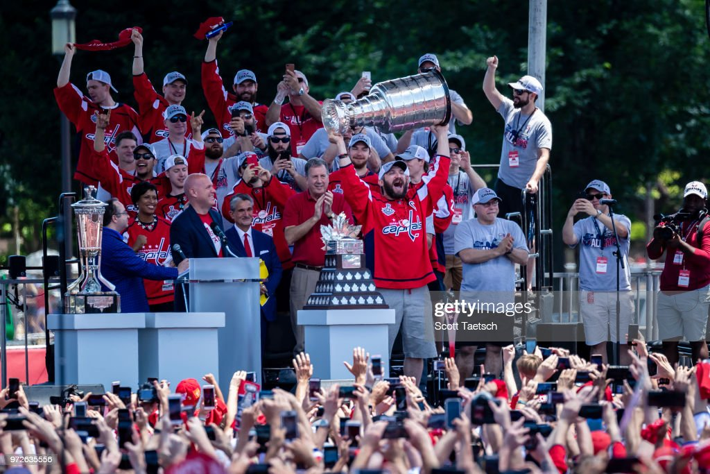 Washington Capitals Victory Parade And Rally : News Photo