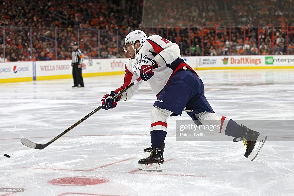 Alex Ovechkin #8 of the Washington Capitals in action against the Philadelphia Flyers at Wells Fargo Center on March 30, 2016 in Philadelphia, Pennsylvania.