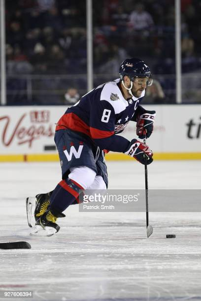 Alex Ovechkin of the Washington Capitals in action against the Toronto Maple Leafs in the Coors Light NHL Stadium Series at NavyMarine Corps Memorial...