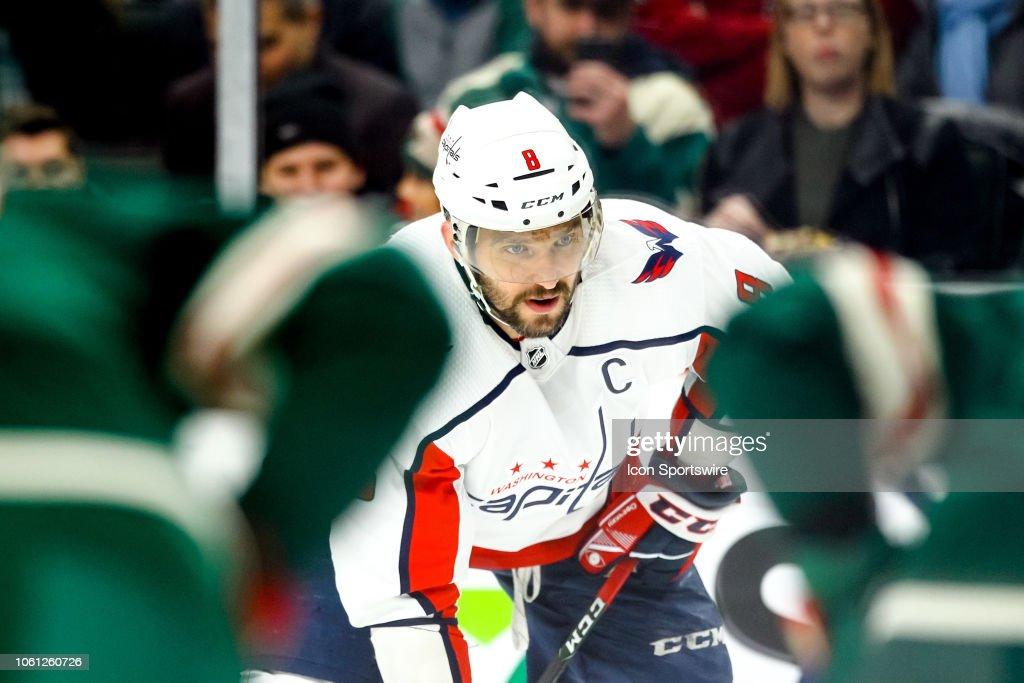 NHL: NOV 13 Capitals at Wild : News Photo