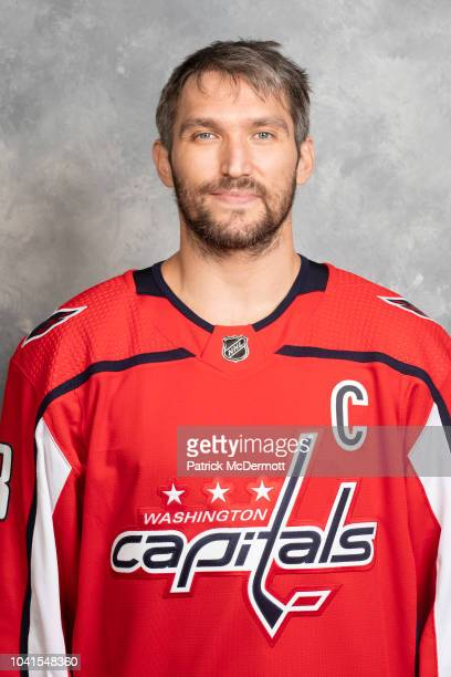Alex Ovechkin of the Washington Capitals poses for his official headshot for the 20182019 season on September 13 2018 at MedStar Capitals Iceplex in...