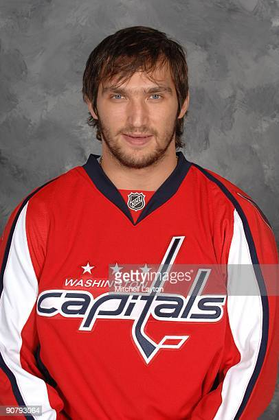 Alex Ovechkin of the Washington Capitals poses for his official headshot for the 20092010 NHL season