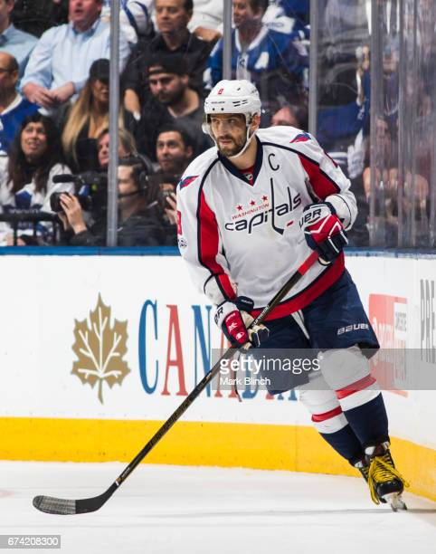 Alex Ovechkin of the Washington Capitals skates against the Toronto Maple Leafs during the second period in Game Six of the Eastern Conference First...