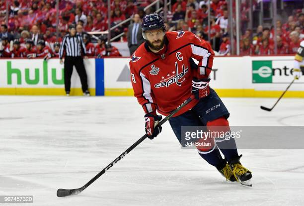 Alex Ovechkin of the Washington Capitals skates during the third period against the Vegas Golden Knights in Game Four of the Stanley Cup Final during...