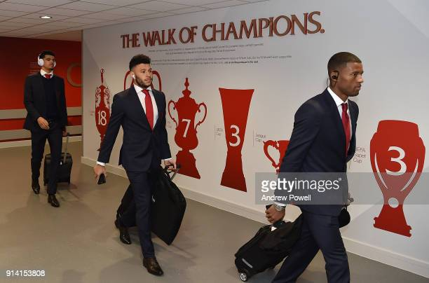 Alex Oxlade Chamberlain of Liverpool arriving before the Premier League match between Liverpool and Tottenham Hotspur at Anfield on February 4 2018...