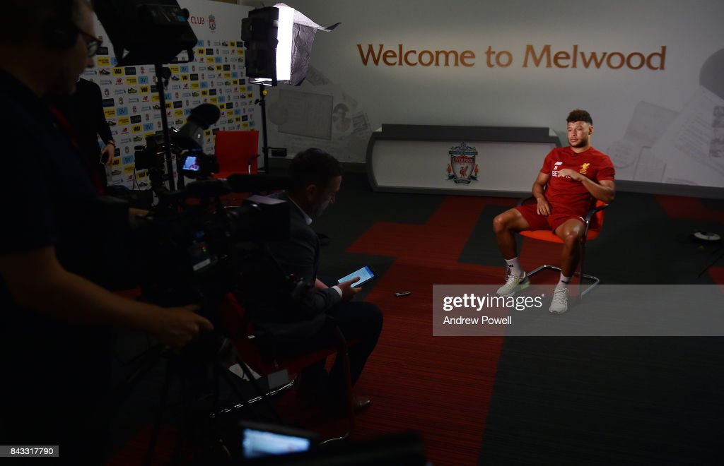Alex Oxlade Chamberlain of Liverpool at Melwood Training Ground on September 6, 2017 in Liverpool, England.