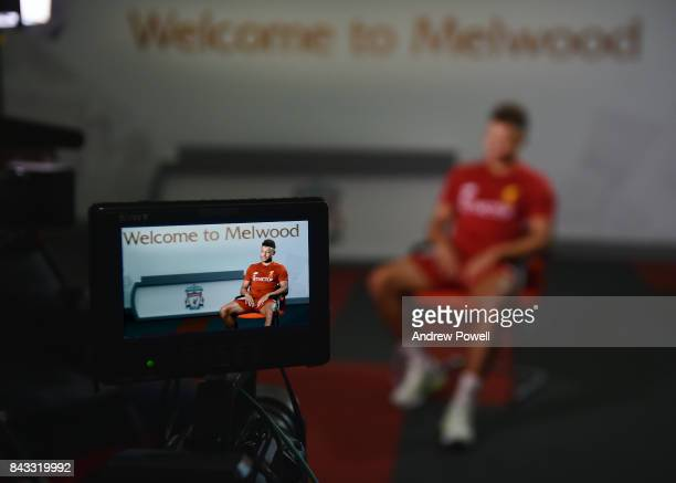 Alex Oxlade Chamberlain of Liverpool at Melwood Training Ground on September 6 2017 in Liverpool England