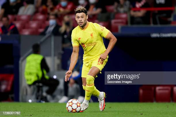 Alex Oxlade Chamberlain of Liverpool FC during the UEFA Champions League match between Atletico Madrid v Liverpool at the Estadio Wanda Metropolitano...