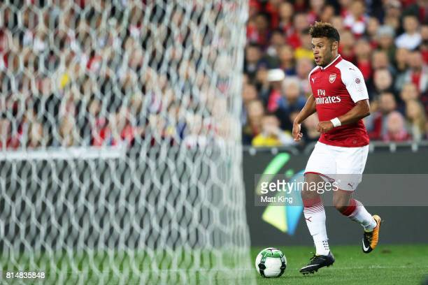 Alex OxladeChamberlain of Arsenal controls the ball during the match between the Western Sydney Wanderers and Arsenal FC at ANZ Stadium on July 15...