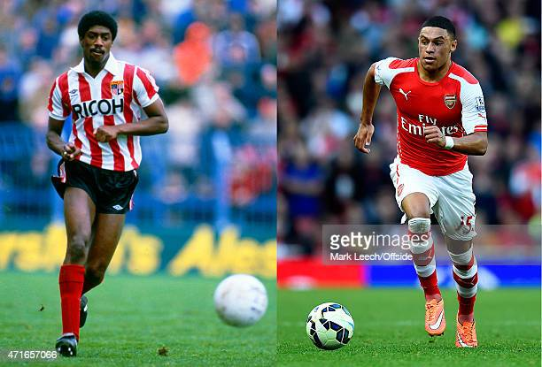 In this composite image a comparison has been made between images 533298719 and 457496398 of Father and Son May 1983 Football League Division One...