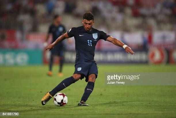 Alex OxladeChamberlain of England in action during the FIFA 2018 World Cup Qualifier between Malta and England at Ta'Qali National Stadium on...