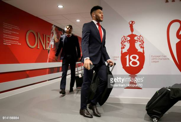 Alex OxladeChamberlain of Liverpool arrives at the stadium prior to the Premier League match between Liverpool and Tottenham Hotspur at Anfield on...