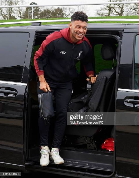Alex OxladeChamberlain of Liverpool arrives for the PL2 game at Derby County Training Ground on March 8 2019 in Derby England