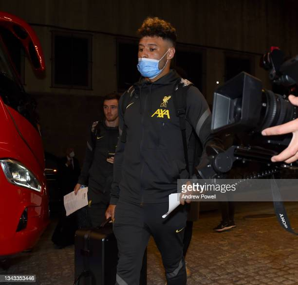 Alex Oxlade-Chamberlain of Liverpool arriving before the UEFA Champions League Group B match between FC Porto and Liverpool FC on September 27, 2021...