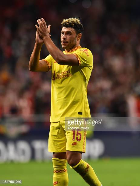 Alex Oxlade-Chamberlain of Liverpool at the end of the UEFA Champions League group B match between Atletico Madrid and Liverpool FC at Wanda...