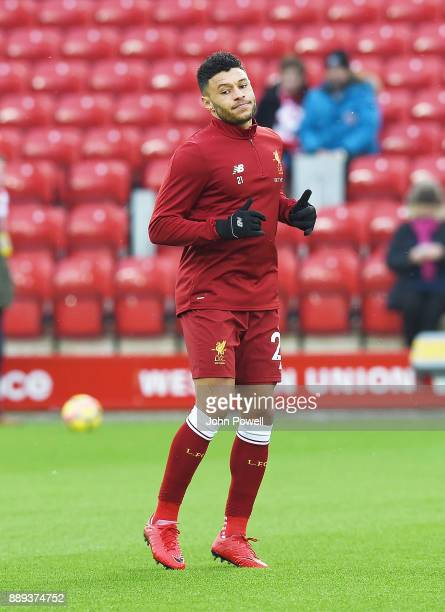 Alex OxladeChamberlain of Liverpool before the Premier League match between Liverpool and Everton at Anfield on December 10 2017 in Liverpool England