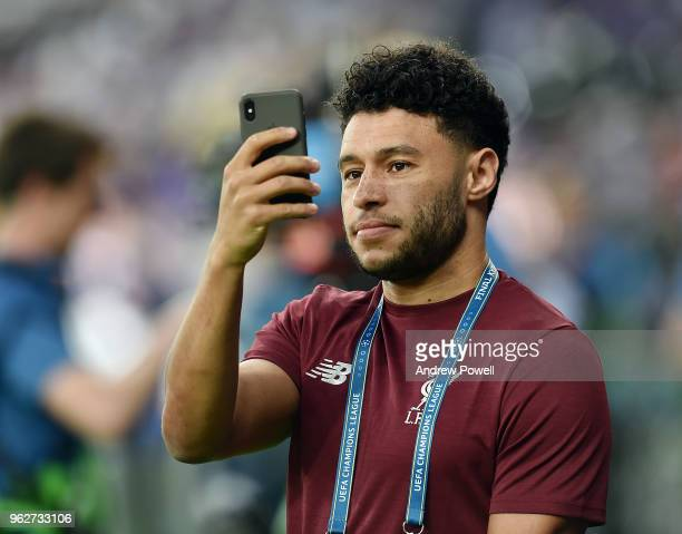 Alex OxladeChamberlain of Liverpool before the UEFA Champions League final between Real Madrid and Liverpool on May 26 2018 in Kiev Ukraine