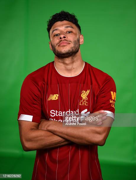 Alex OxladeChamberlain of Liverpool during a green shoot at Anfield on February 22 2020 in Liverpool England