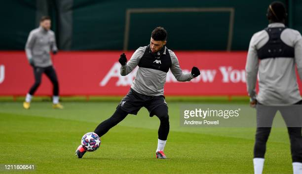 Alex OxladeChamberlain of Liverpool during a training session at Melwood training ground on March 10 2020 in Liverpool United Kingdom Liverpool FC...