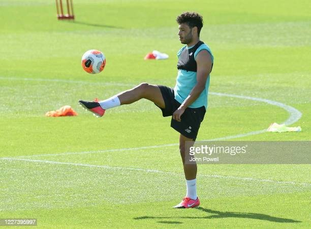Alex OxladeChamberlain of Liverpool during a training session at Melwood Training Ground on May 27 2020 in Liverpool England