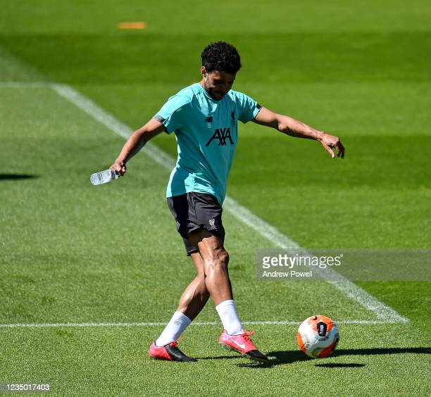 Alex OxladeChamberlain of Liverpool during a training session at Melwood Training Ground on May 30 2020 in Liverpool England