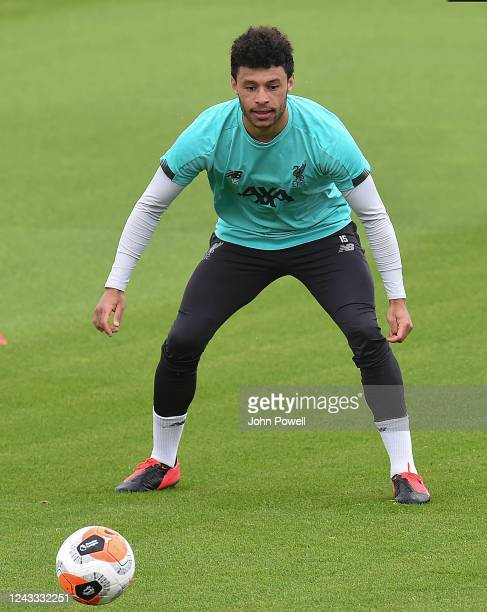 Alex OxladeChamberlain of Liverpool during a training session at Melwood Training Ground on June 03 2020 in Liverpool England