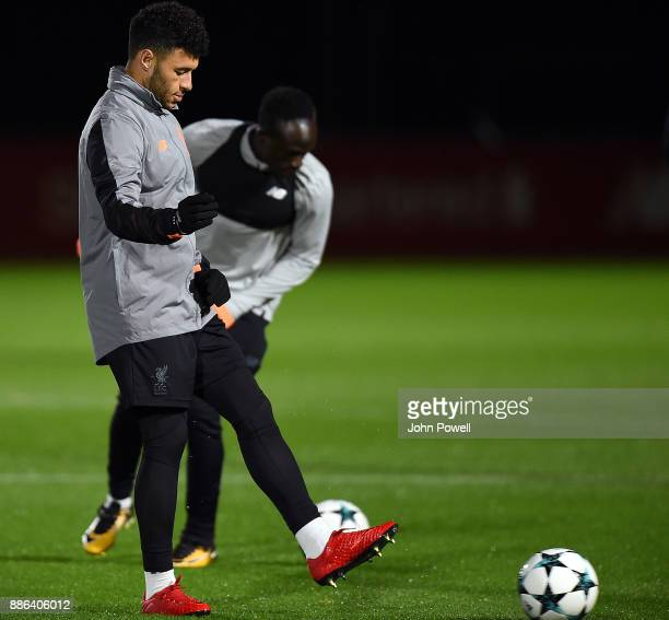 Alex OxladeChamberlain of Liverpool during a training session at Melwood Training Ground on December 5 2017 in Liverpool England
