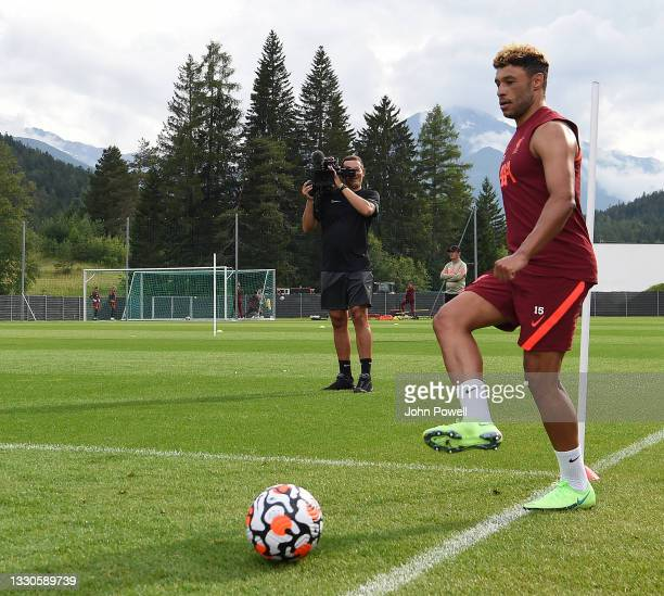 Alex Oxlade-Chamberlain of Liverpool during a training session on July 25, 2021 in UNSPECIFIED, Austria.