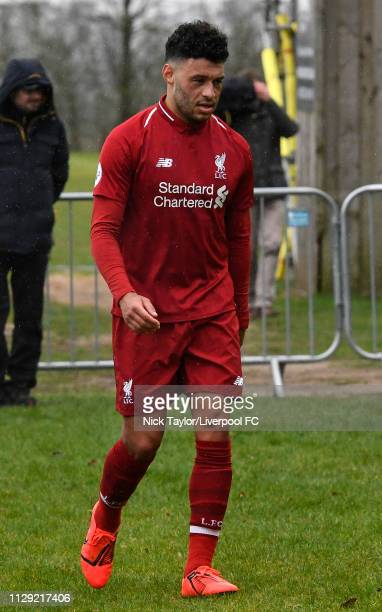 Alex OxladeChamberlain of Liverpool during the PL2 game at Derby County Training Ground on March 8 2019 in Derby England