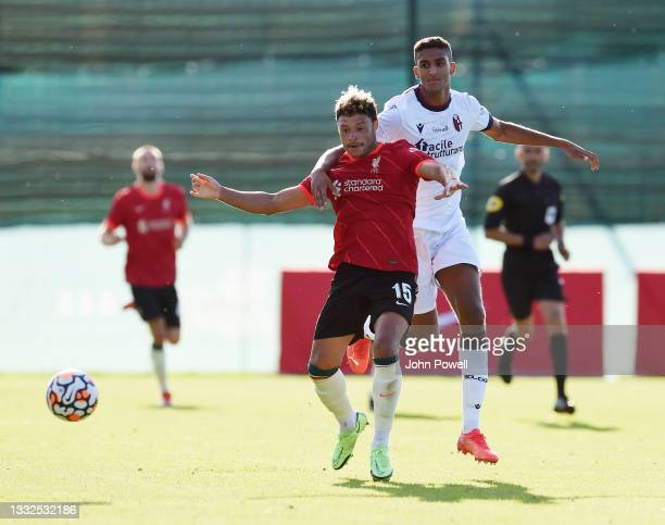 Alex Oxlade-Chamberlain of Liverpool during the Pre Season match between Liverpool and Bologna on August 05, 2021 in Evian-les-Bains, France.