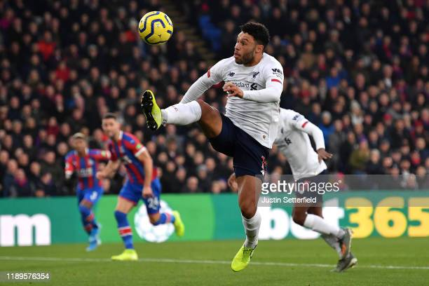Alex OxladeChamberlain of Liverpool during the Premier League match between Crystal Palace and Liverpool FC at Selhurst Park on November 23 2019 in...