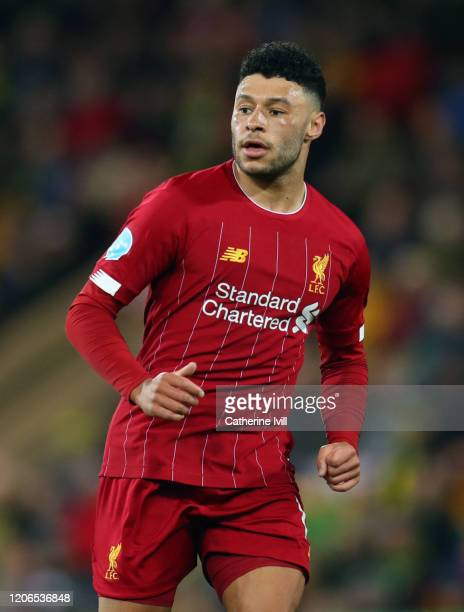 Alex Oxlade-Chamberlain of Liverpool during the Premier League match between Norwich City and Liverpool FC at Carrow Road on February 15, 2020 in...