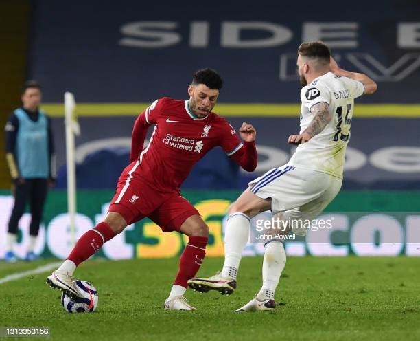 Alex Oxlade-Chamberlain of Liverpool during the Premier League match between Leeds United and Liverpool at Elland Road on April 19, 2021 in Leeds,...