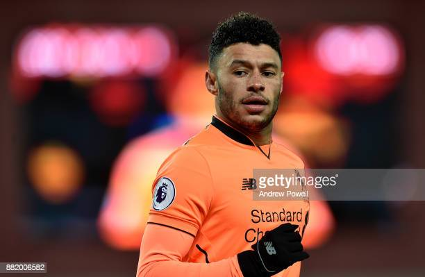 Alex OxladeChamberlain of Liverpool during the Premier League match between Stoke City and Liverpool at Bet365 Stadium on November 29 2017 in Stoke...