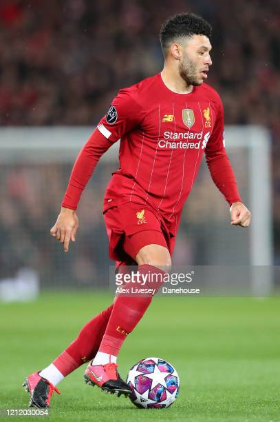 Alex OxladeChamberlain of Liverpool during the UEFA Champions League round of 16 second leg match between Liverpool FC and Atletico Madrid at Anfield...