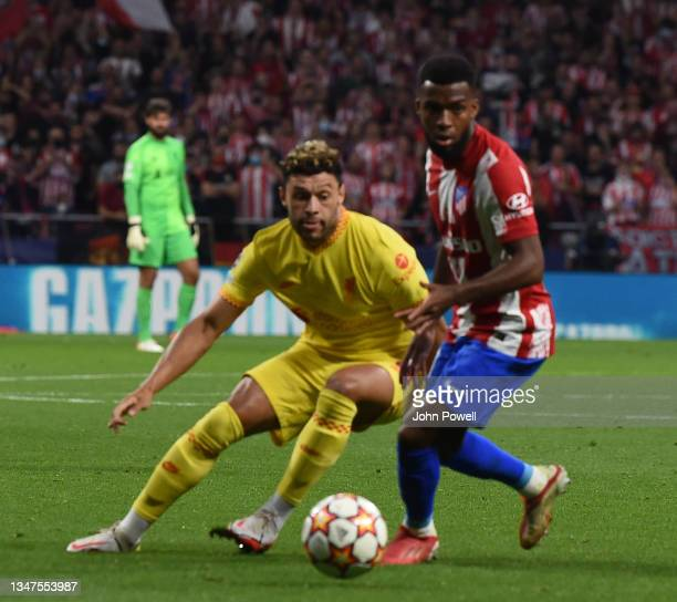Alex Oxlade-Chamberlain of Liverpool during the UEFA Champions League group B match between Atletico Madrid and Liverpool FC at Wanda Metropolitano...