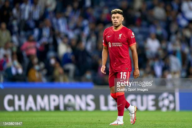 Alex Oxlade-Chamberlain of Liverpool FC looks on during the UEFA Champions League group B match between FC Porto and Liverpool FC at Estadio do...