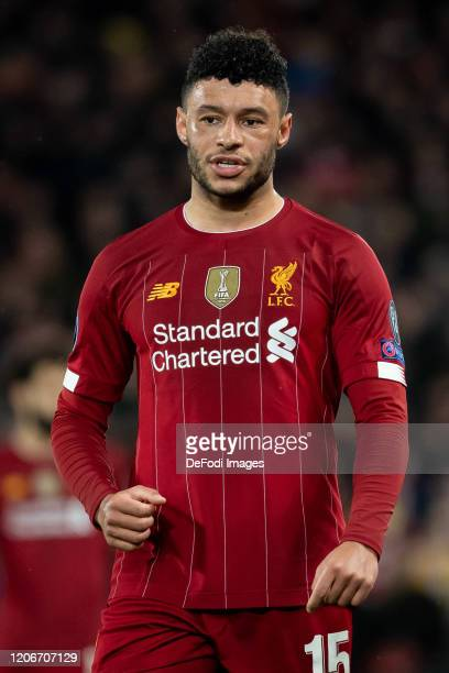 Alex OxladeChamberlain of Liverpool FC looks on during the UEFA Champions League round of 16 second leg match between Liverpool FC and Atletico...