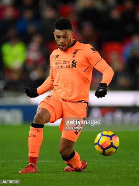 Alex OxladeChamberlain of Liverpool in action during the Premier League match between Stoke City and Liverpool at Bet365 Stadium on November 29 2017...