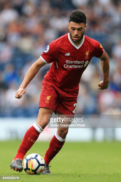 Alex OxladeChamberlain of Liverpool in action during the Premier League match between West Bromwich Albion and Liverpool at The Hawthorns on April 21...