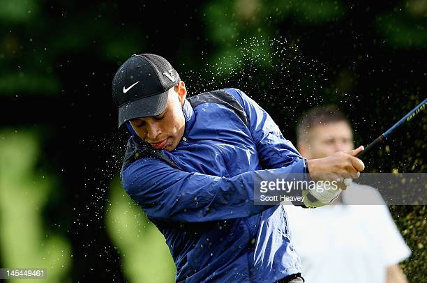 Alex Oxlaide Chamberlain during a Vauxhall Golf Day for the England Football team at The Grove Hotel on May 30 2012 in Hertford England