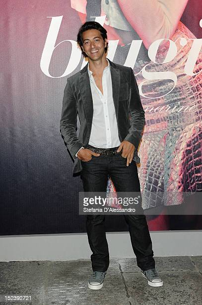 Alex Pacifico attends the Blugirl Spring/Summer 2013 fashion show as part of Milan Womenswear Fashion Week on September 20 2012 in Milan Italy