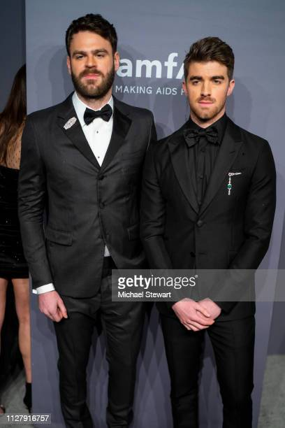 Alex Pall and Andrew Taggart attend the 2019 amfAR New York Gala at Cipriani Wall Street on February 06 2019 in New York City