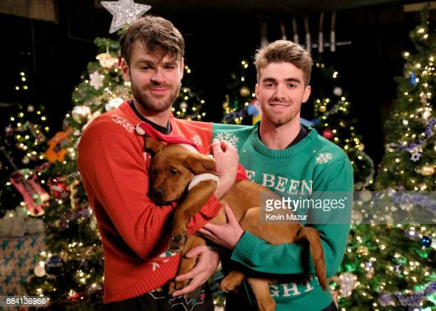 Alex Pall and Andrew Taggart of The Chainsmokers attend 1027 KIIS FM's Jingle Ball 2017 presented by Capital One at The Forum on December 1 2017 in...
