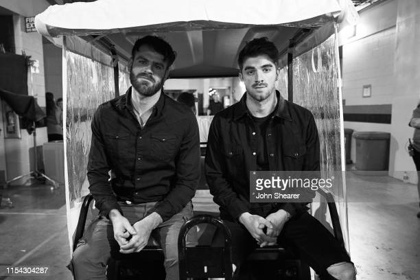 Alex Pall and Andrew Taggart of The Chainsmokers attend day 1 of 2019 CMA Music Festival on June 06 2019 in Nashville Tennessee