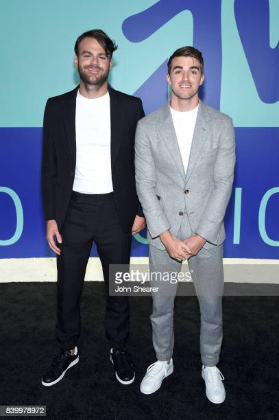 Alex Pall and Andrew Taggart of The Chainsmokers attend the 2017 MTV Video Music Awards at The Forum on August 27 2017 in Inglewood California
