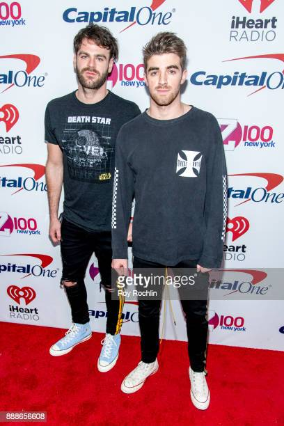 Alex Pall and Andrew Taggart of The Chainsmokers attend Z100's iHeartRadio Jingle Ball 2017 at Madison Square Garden on December 8 2017 in New York...