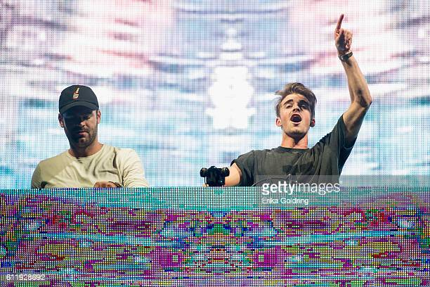 Alex Pall and Andrew Taggart of The Chainsmokers perform at Zilker Park on October 1 2016 in Austin Texas